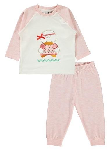 Kujju Kız Bebek Pijama Takımı  Pembe